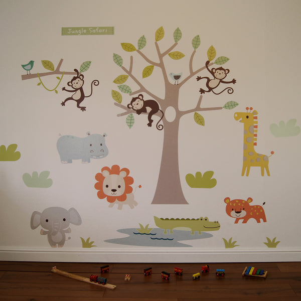 Pastel Jungle Safari Wall Stickers