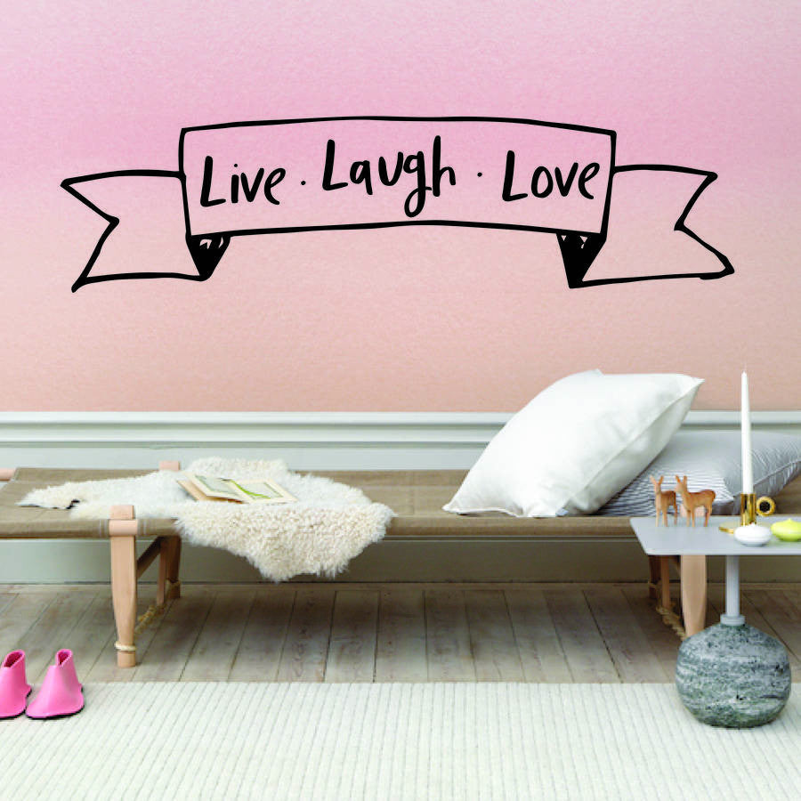 Live Laugh Love Banner Wall Sticker