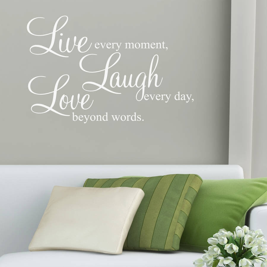 Live Laugh Love Quote Live Laugh Love Quote Wall Sticker  Parkins Interiors