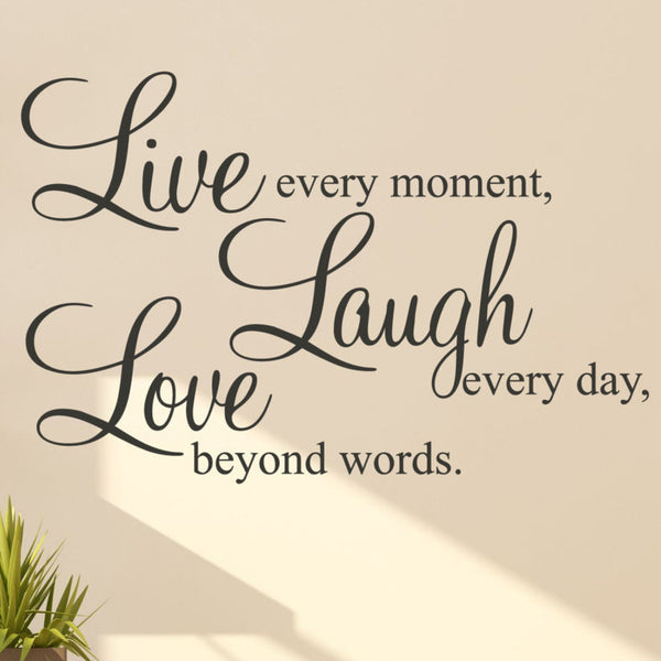 Live Laugh Love Quote Wall Sticker