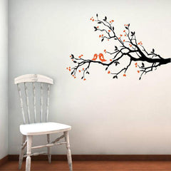 Love Birds On Blossom Branch Wall Sticker