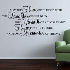 May This Home Be Blessed Quote Wall Sticker