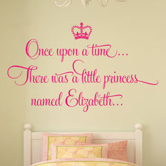Once Upon A Time Princess Personalised Wall Sticker