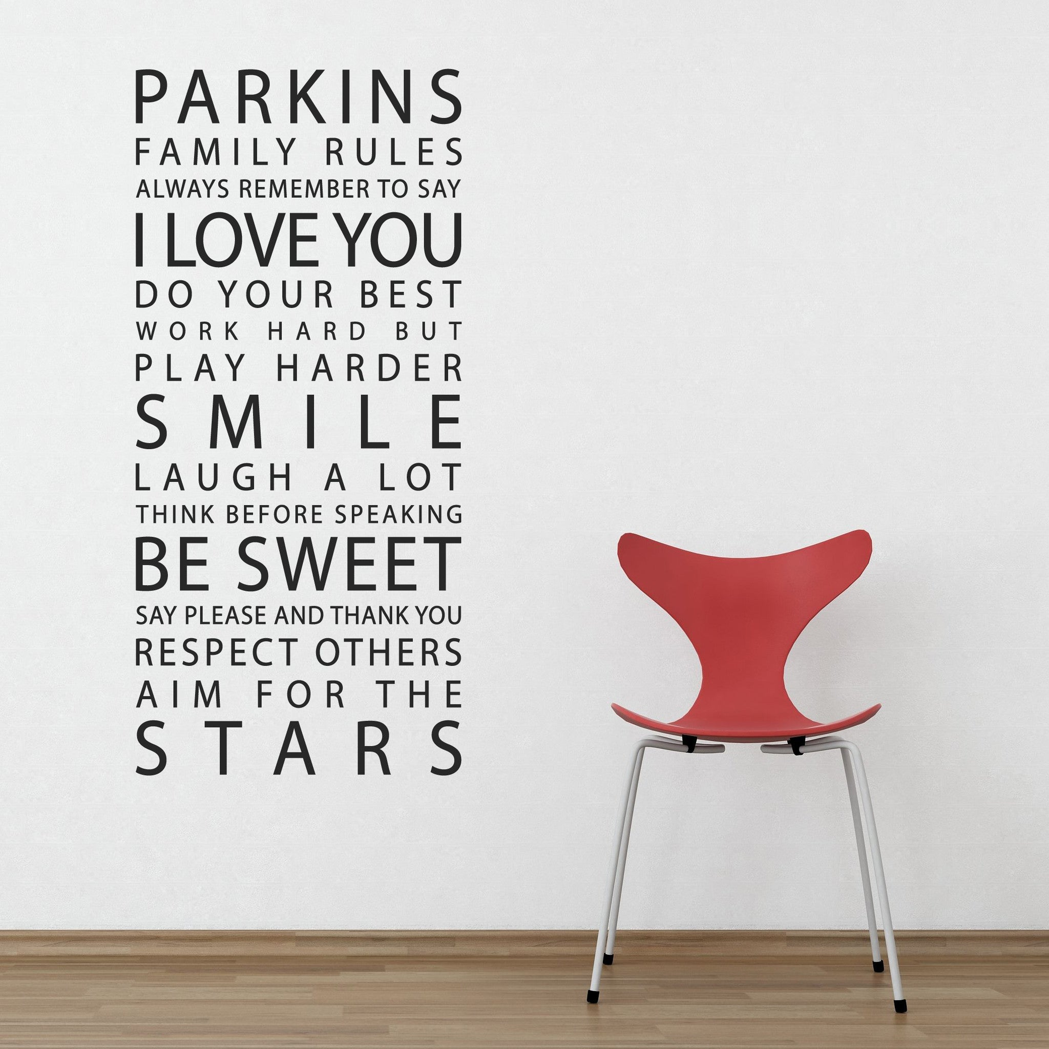 personalised family rules wall stickers parkins interiors personalised family rules wall stickers