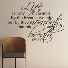 Breaths That We Take Quote Wall Sticker