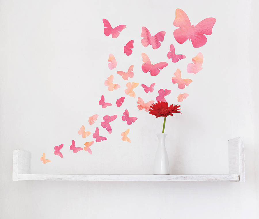 watercolour butterfly wall stickers | parkins interiors