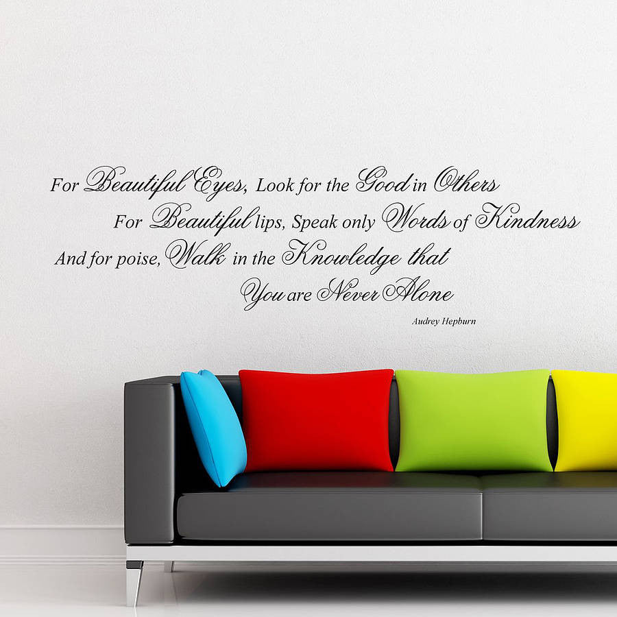 Audrey Hepburn Quote Wall Sticker