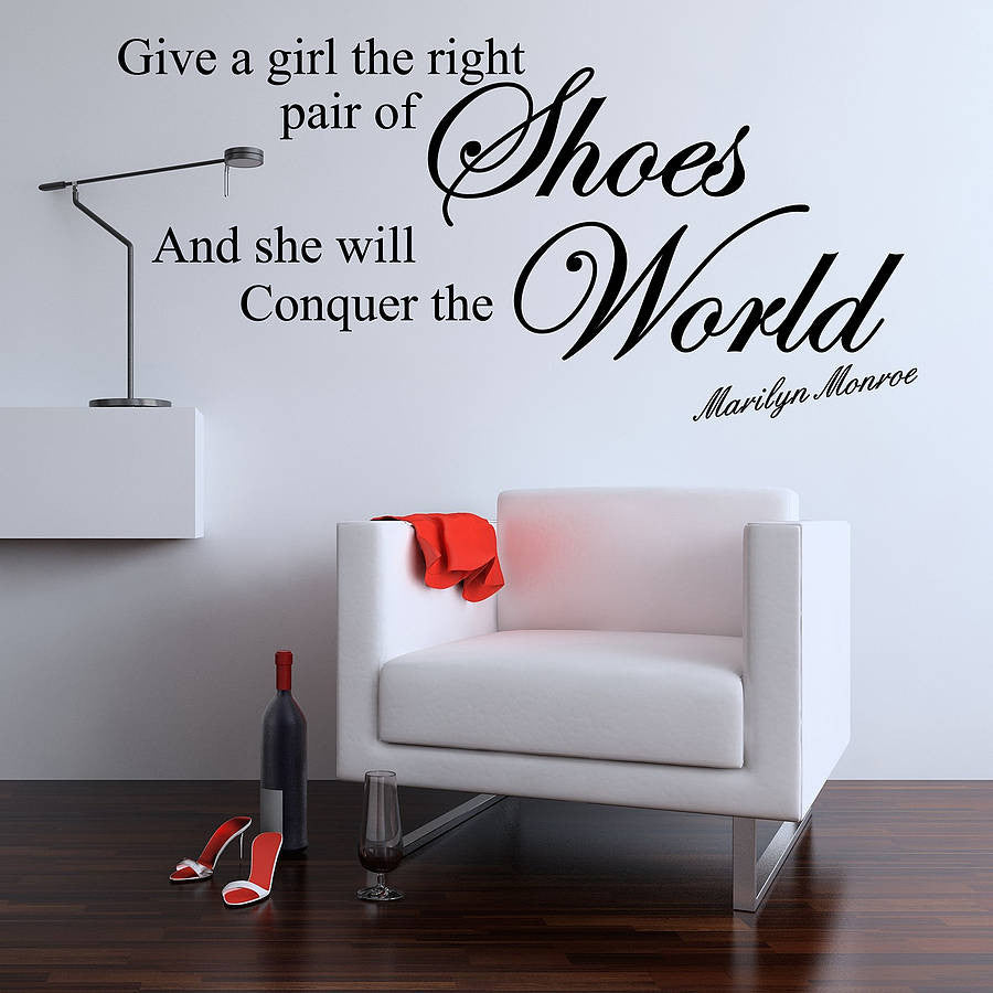 Give A Girl Quote Wall Sticker