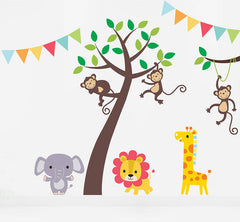 Jungle Friends Tree Wall Sticker Set
