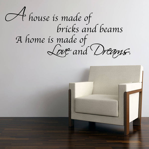 Love And Dreams Home Wall Stickers