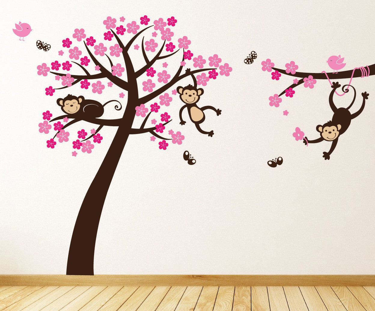 Monkey blossom tree wall stickers parkins interiors monkey blossom tree wall stickers amipublicfo Image collections