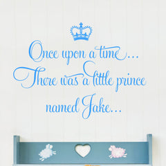 Once Upon A Time Personalised Prince Wall Sticker