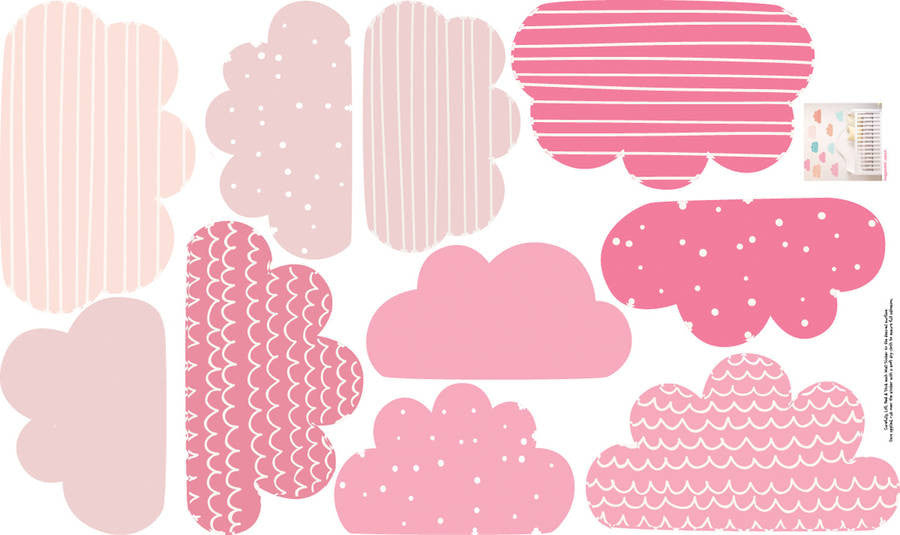 pastel clouds wall stickers | parkins interiors