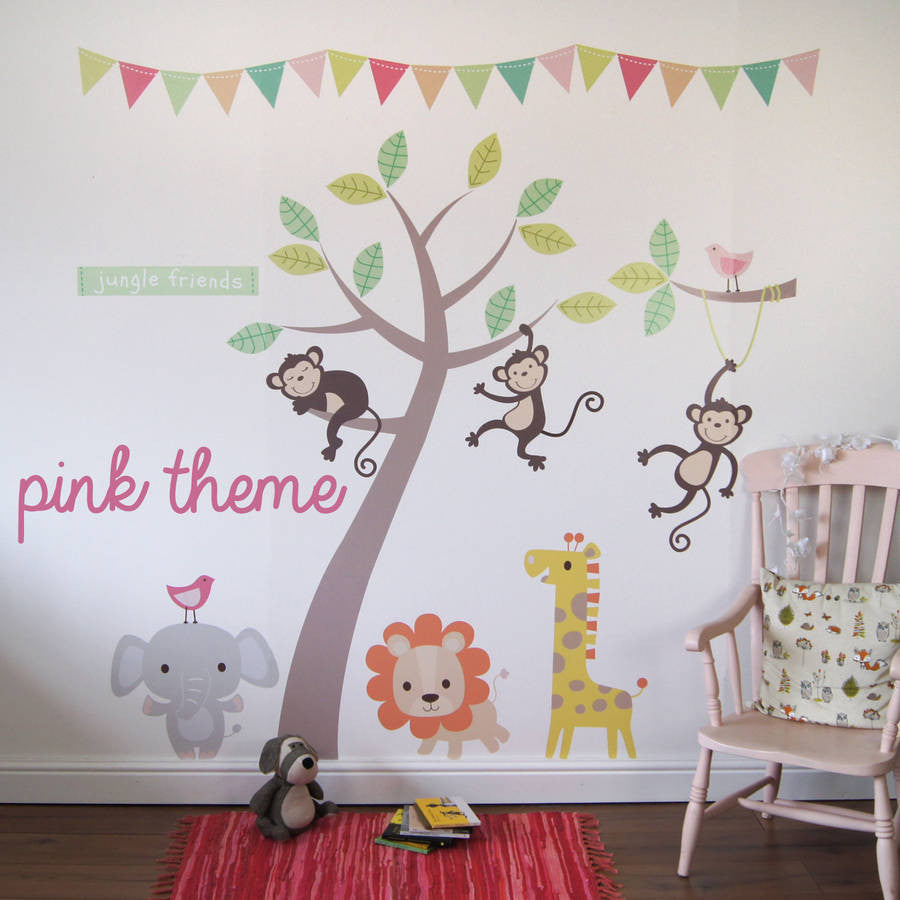 Pastel jungle animal wall stickers parkins interiors pastel jungle animal wall stickers amipublicfo Choice Image