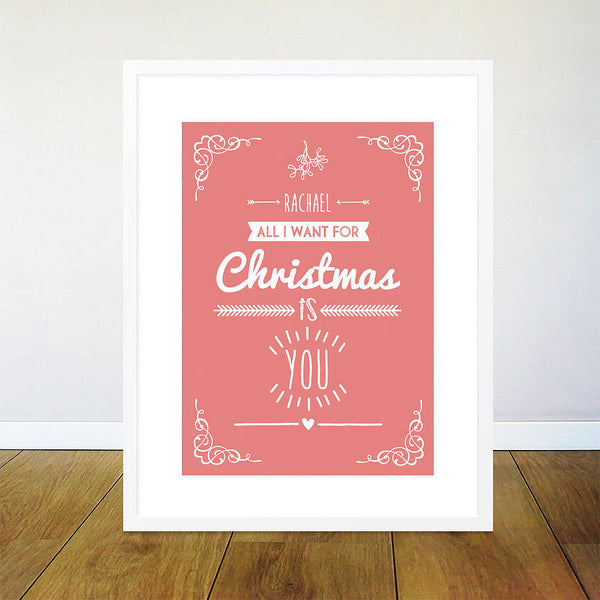 Christmas Personalised Poster Print