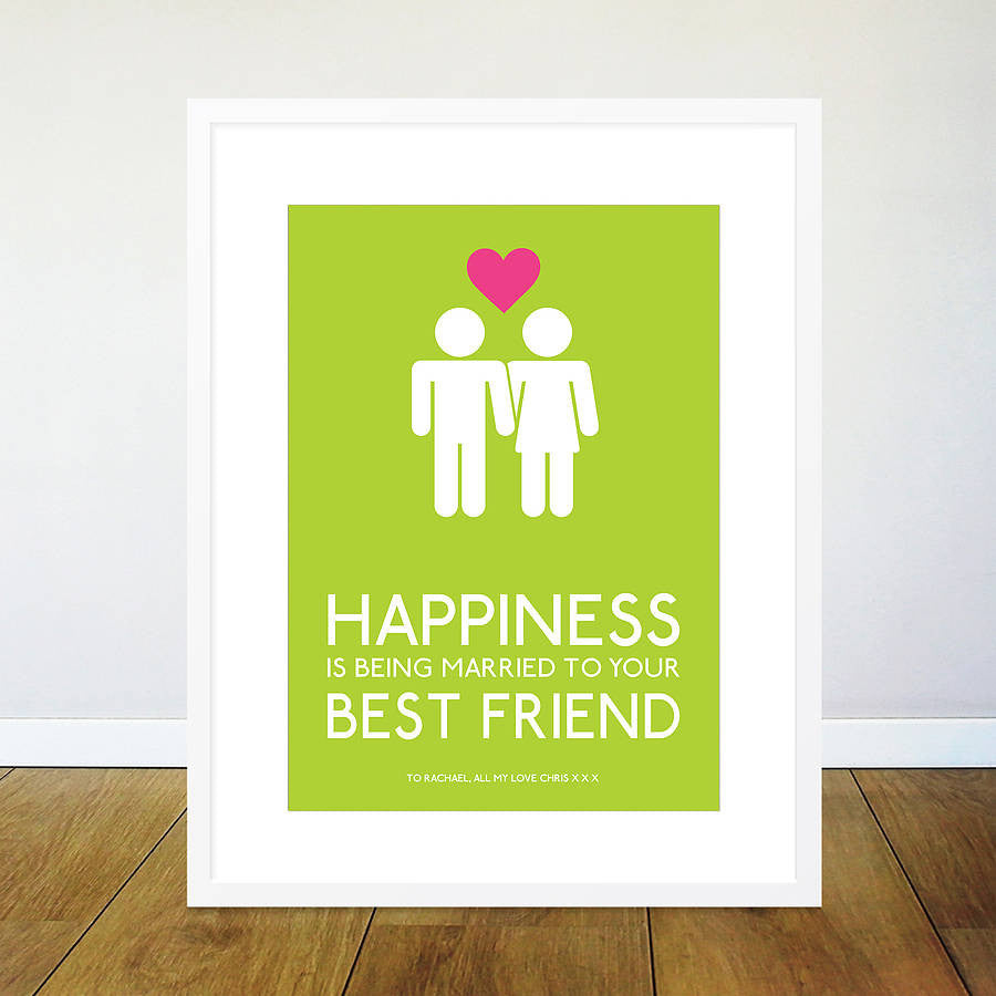 Personalised Marriage Friends Print