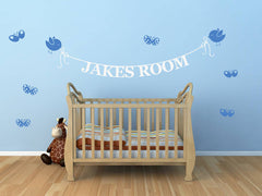 Personalised Name Banner Wall Sticker