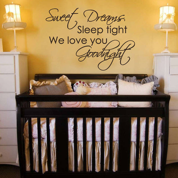 Sleep Tight Goodnight Childrens Wall Sticker