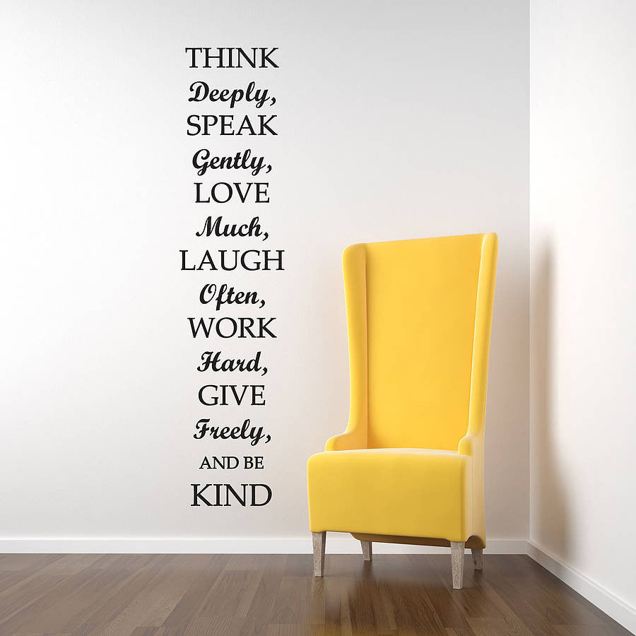 Think Deeply Quote Wall Sticker