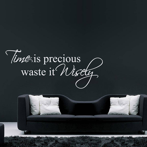Time Is Precious Quote Wall Sticker