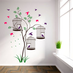 Bird Cages Wall Stickers