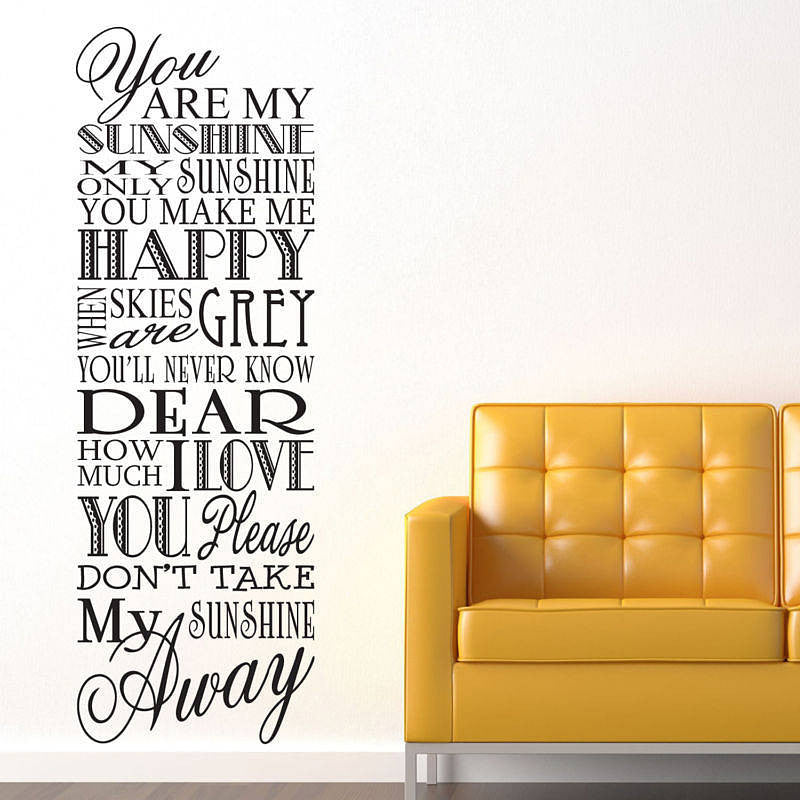 You Are My Sunshine Wall Stickers You Are My Sunshine Wall Stickers ...