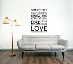 You've Got The Love Wall Stickers
