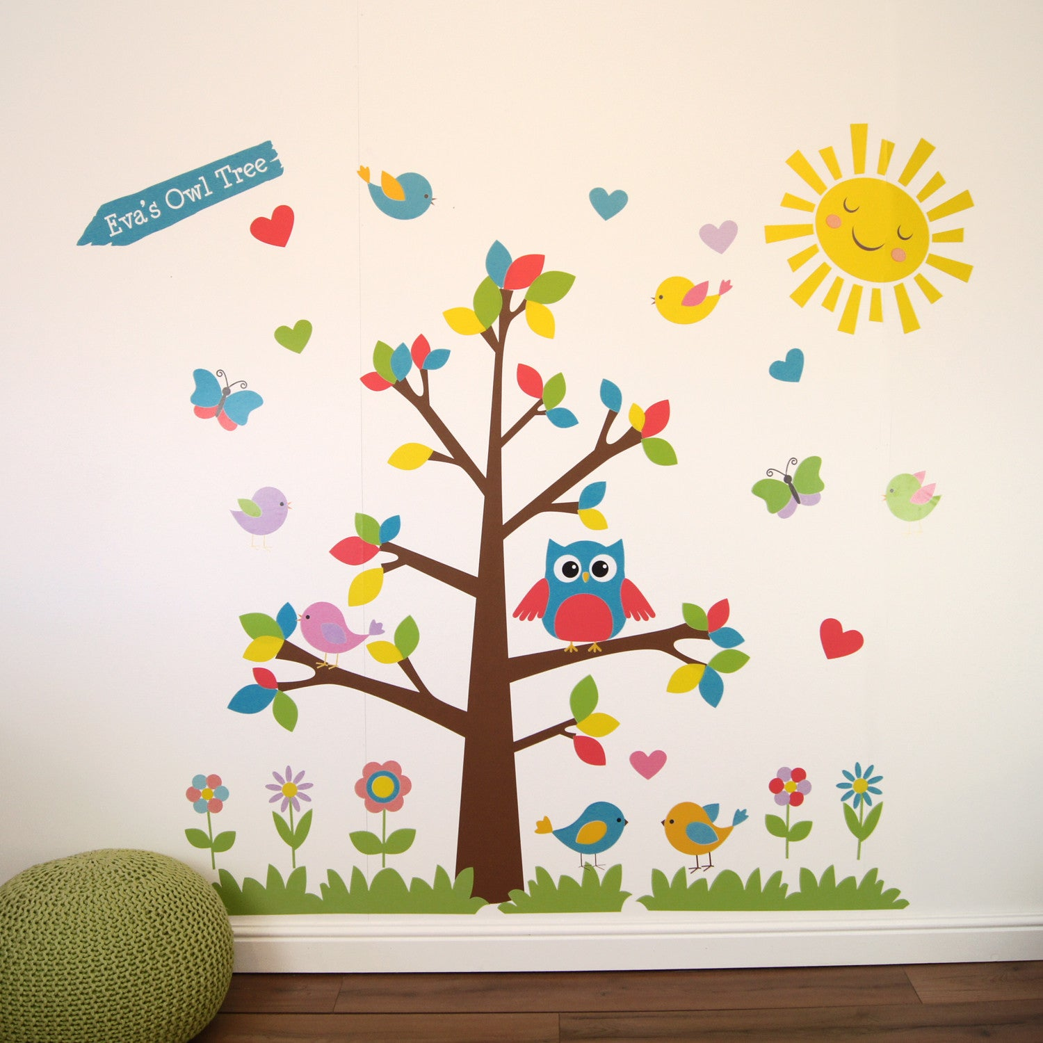 owl tree wall stickers parkins interiors. Black Bedroom Furniture Sets. Home Design Ideas