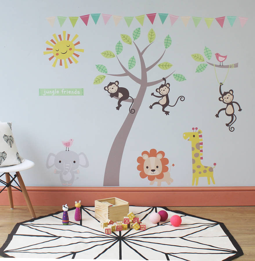 Pastel jungle animal wall stickers parkins interiors pastel jungle animal wall stickers pastel jungle animal wall stickers amipublicfo Choice Image