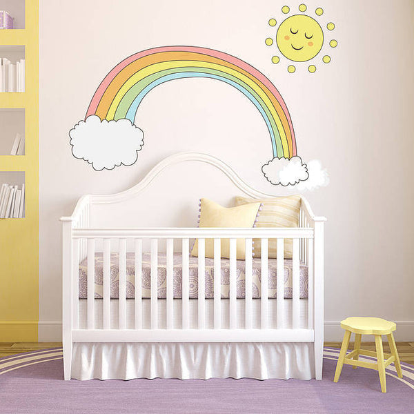 Pastel Children's Rainbow Wall Sticker