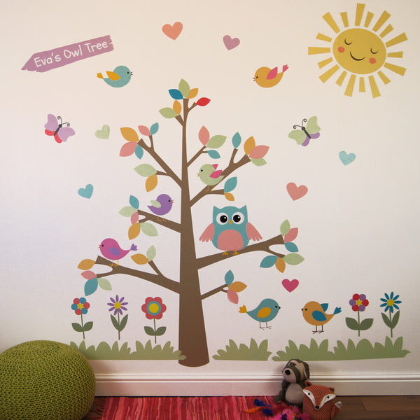Owl Tree Wall Stickers Part 49