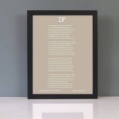 Personalised If Poem Framed Print