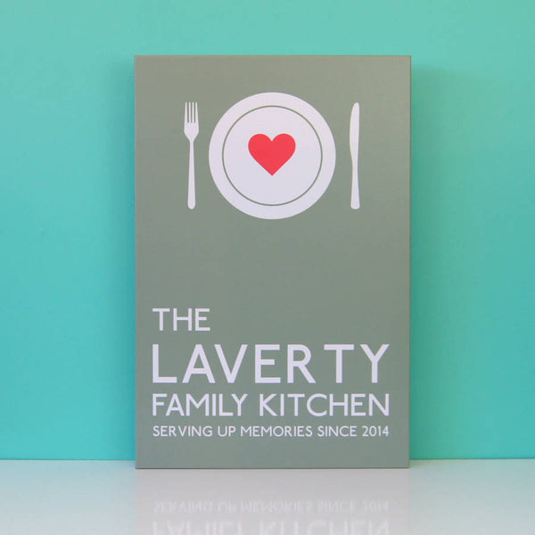 Personalised Family Kitchen Canvas