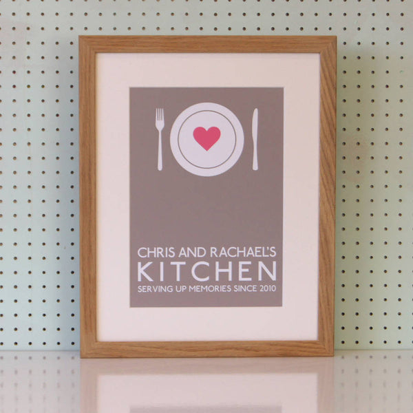 Personalised Family Kitchen Print