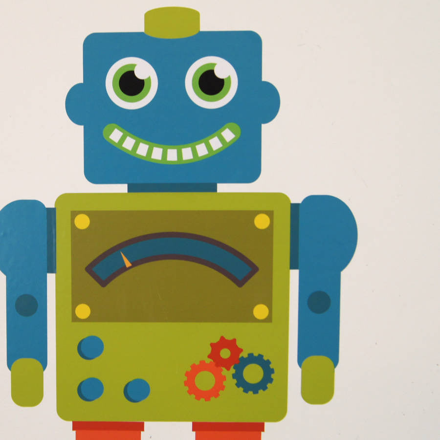 Personalised Robot Wall Stickers | Parkins Interiors