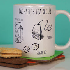 Personalised Tea Recipe Ceramic Mug