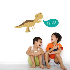 Personalised T Rex Dinosaur Wall Sticker