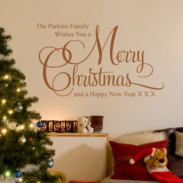 Personalised Merry Christmas Wall Sticker