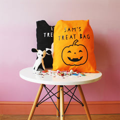 Personalised Pumpkin Halloween 'Trick Or Treat' Bag