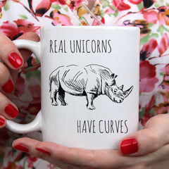 Real Unicorns Have Curves Ceramic Mug