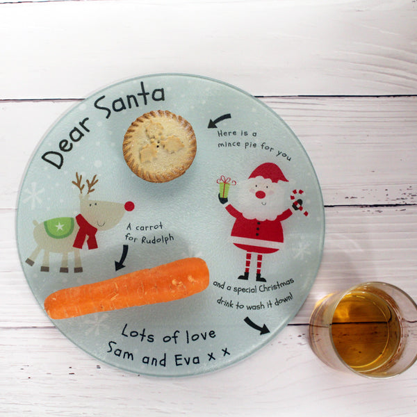 Personalised Christmas Eve Glass Tray