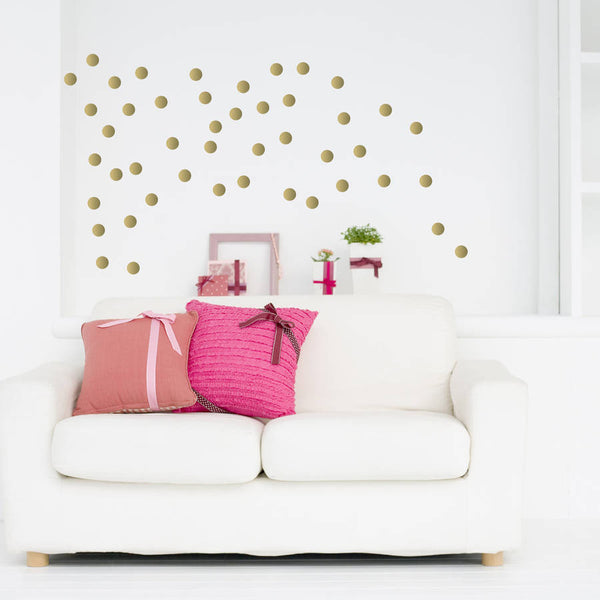 Soft Gold Metallic Confetti Wall Stickers