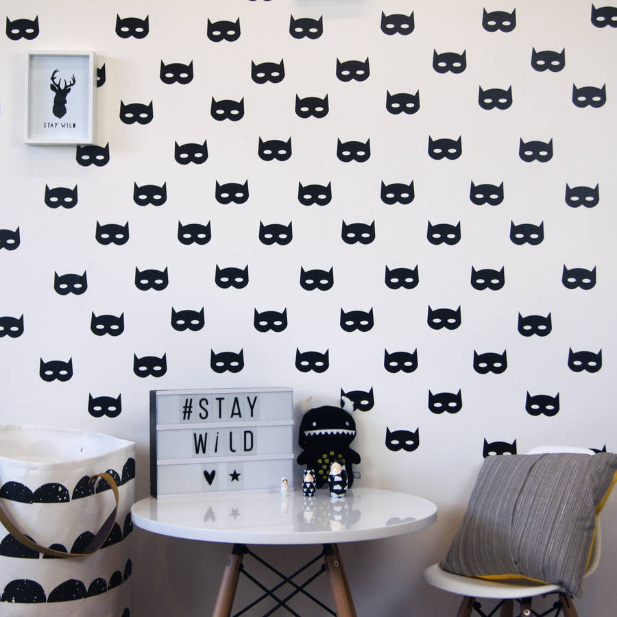 Superhero Mask Wall Stickers