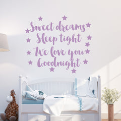 Sweet Dreams And Stars Wall Sticker