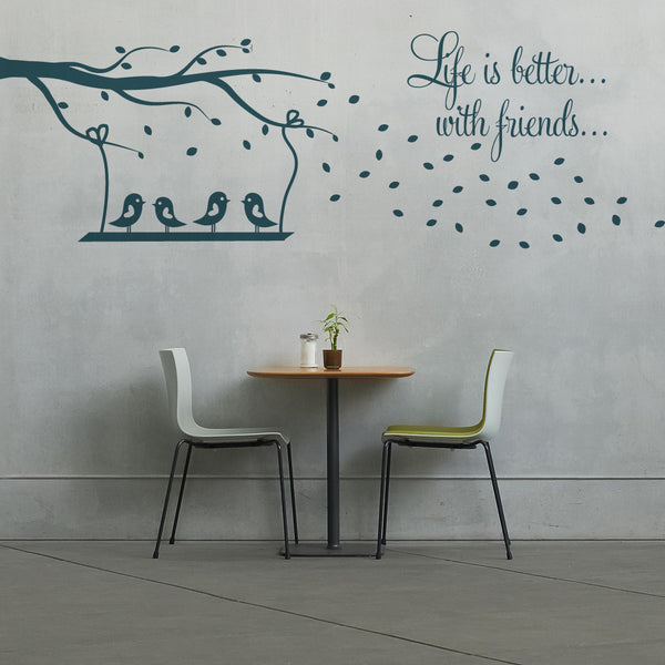 Swing And Birds Wall Stickers
