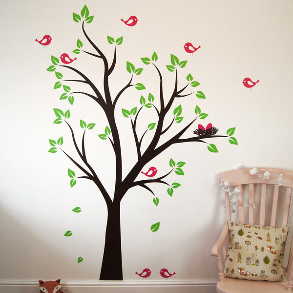 Birds Nests In Tree Wall Sticker Part 60