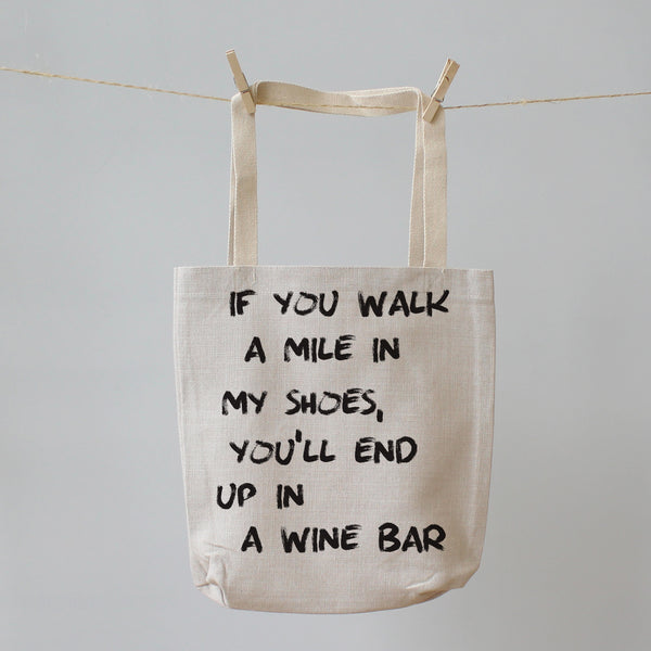 Walk a Mile in my Shoes. Tote Shopping Bag