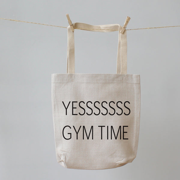 Yes Gym Time. Tote Shopping Bag