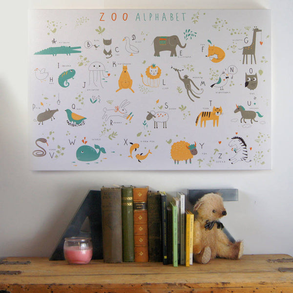 Zoo Alphabet Canvas Print