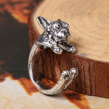 Load image into Gallery viewer, Adjustable Bulldog Ring - DogWoofers, DogWoofer, Dog Woofer, Dog Woofers, Dog Jewelry